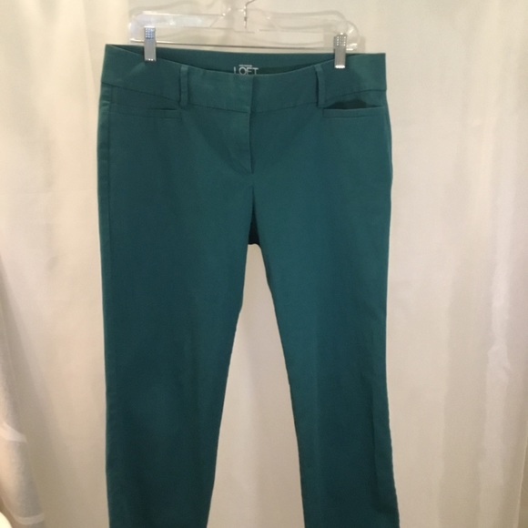 LOFT Pants - LOFT Green ankle pant chinos